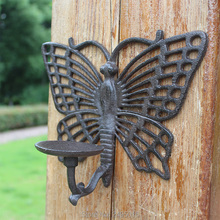 Cast Iron Butterfly Tealight Holder with Rustic brown finish