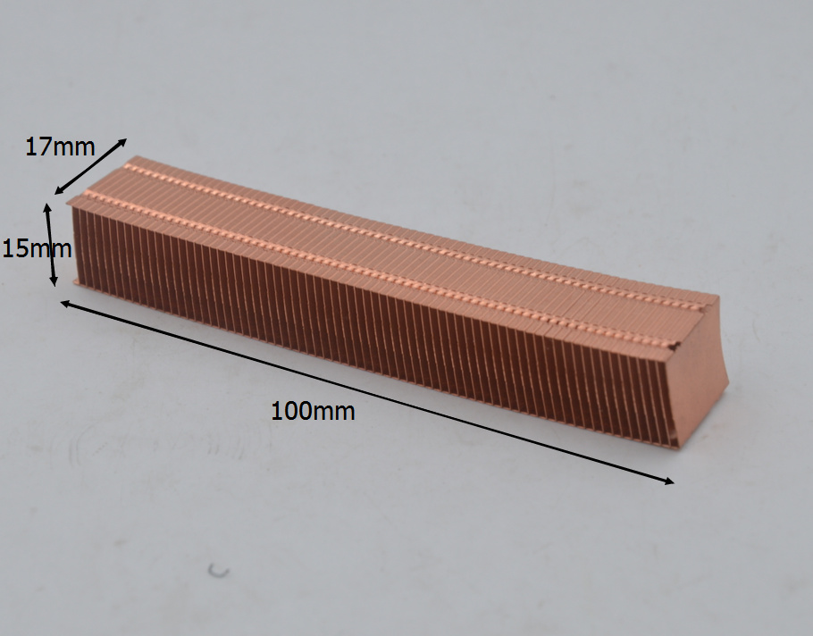 Copper Cooling Fin / All Kinds Of Fin DIY Fin-fan Heat Exchanger 100*15*17 / 45*67*9/ 43*8*3.2/ 72*135*9/80*55*7mm Aluminum Fins