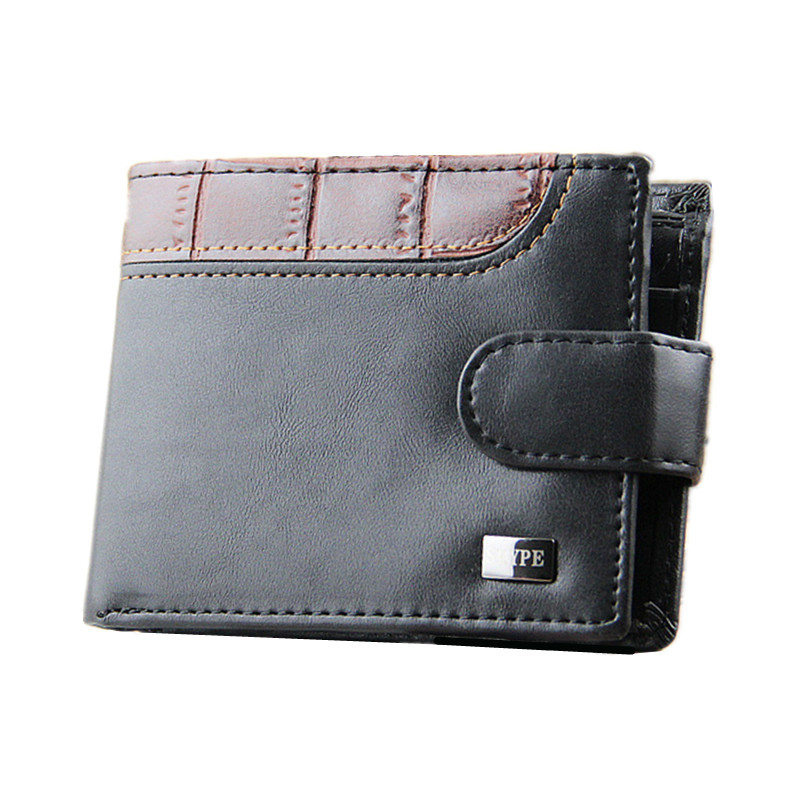 2016 New Soft Luxury Leather Men Wallet Black Bifold Credit Card Holder Purse Wallets Handbag Top Quality Free Shipping  N541