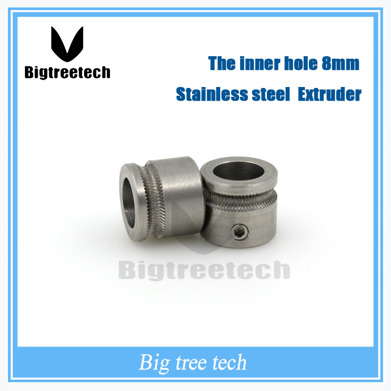 3D printer MK7-MK8 stainless extruder gear Bore 8mm for 1.75mm-3mm For Makerbot Reprap 3D0045