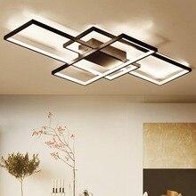 NEO Gleam New Arrival Black/White LED Ceiling Chandelier For Living Study Room Bedroom Aluminum Modern Led Ceiling Chandelier  недорого