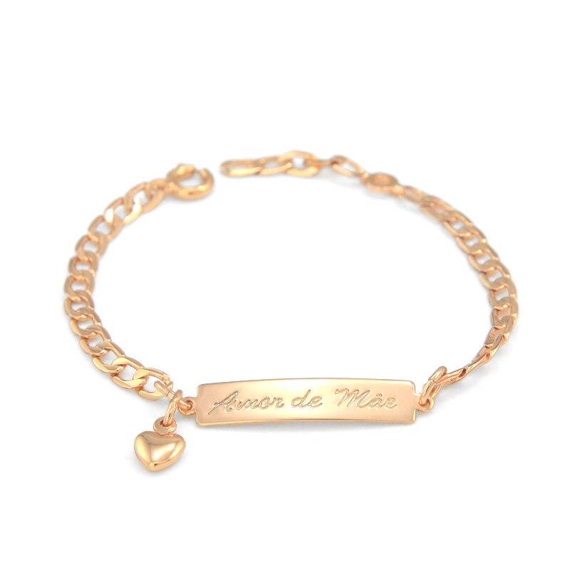 15cm Amor De Mae Kids Bracelets Gold