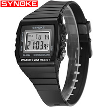SYNOKE NEW Mens Wrist Watches Multifunctional 30m Waterproof Man Watch Fashion Sports Digital Outdoor Square Clock