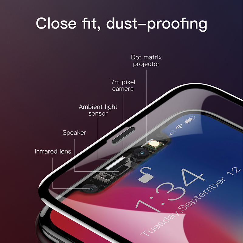 best service d6127 39701 US $6.99 30% OFF|Baseus 0.3MM 7D Surface Screen Protector For iPhone X  Glass 9H Thin Anti Blue Light Tempered Glass For iPhone X Protective  Glass-in ...