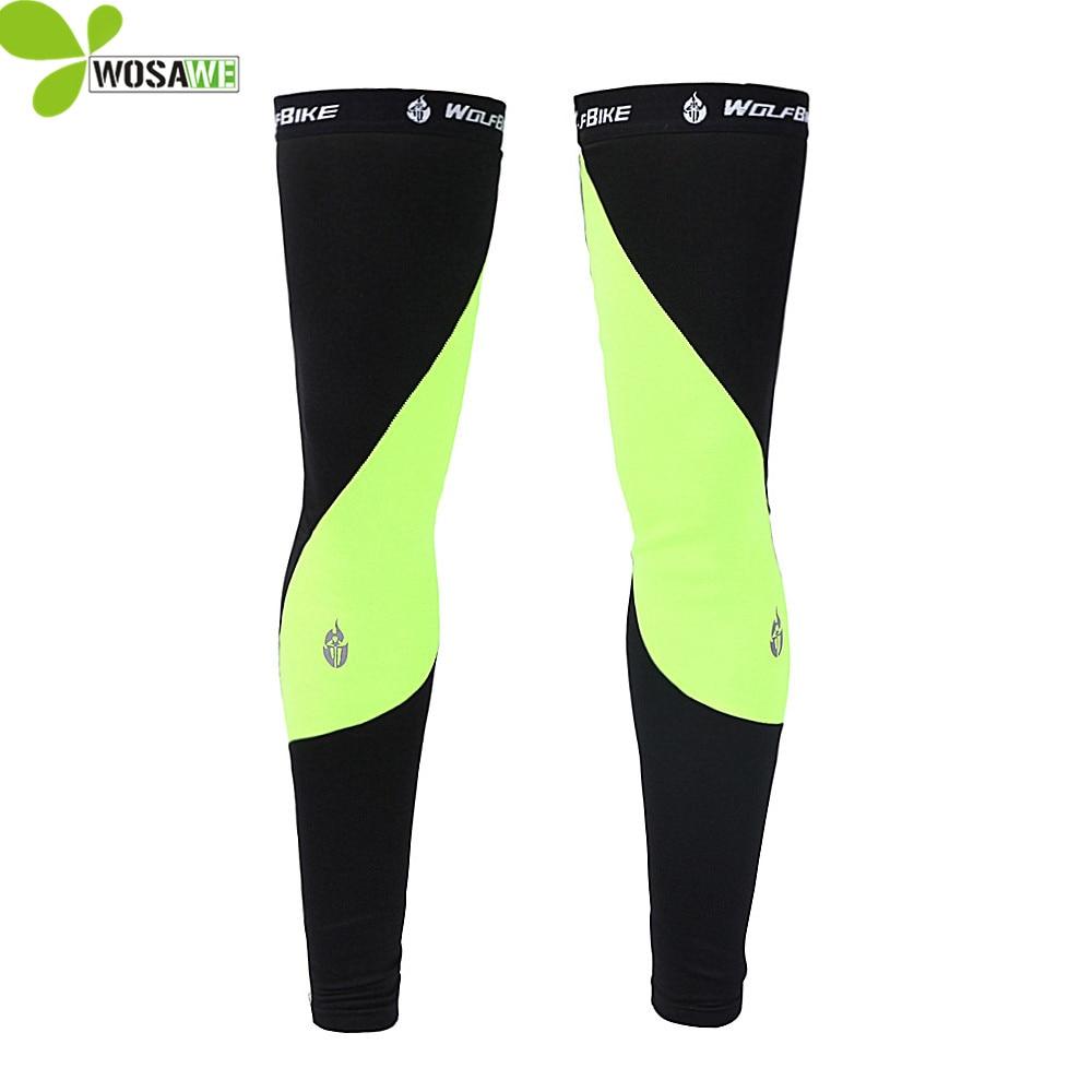 WOSAWE ספורט רכיבה על אופניים רכיבה על אופניים שרוול הברך רגליים רגליים יותר MTB Ciclismo בגדים דחיסה פליז תרמי מרוצי רגליים