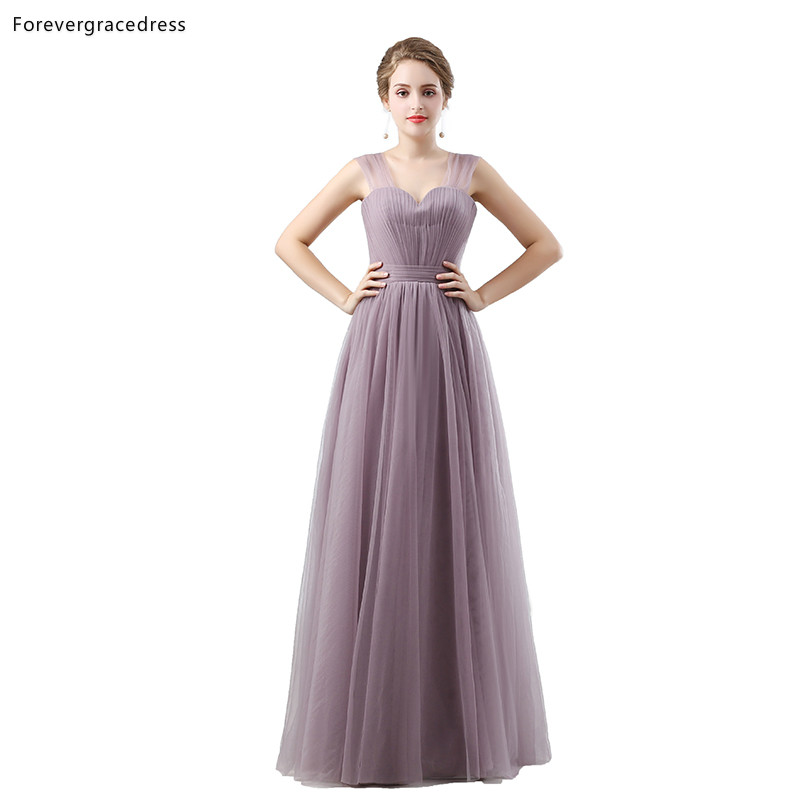 Forevergracedress Light Purple   Bridesmaid     Dresses   A Line Tulle Wedding Party Guest Maid of Honor Gowns Plus Size Custom Made