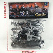 Xmas Presentes Soldado Modelo Toy Kids Popular Cultura Educacional 28PCS Medieval Figuras de Cavalos(China)