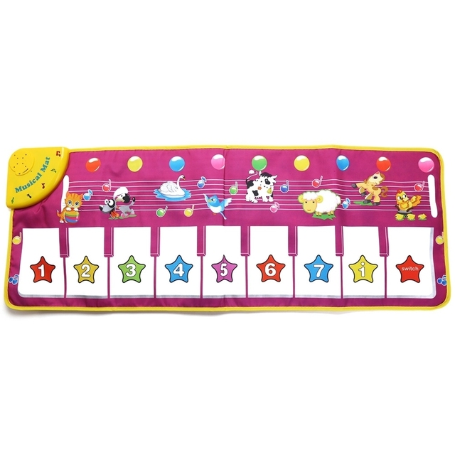 Multifunction Baby Play Crawling Mat Touch Type Electronic Piano Music Game Mats Animal Sounds Sings Toys FT1333NC 100x36cm