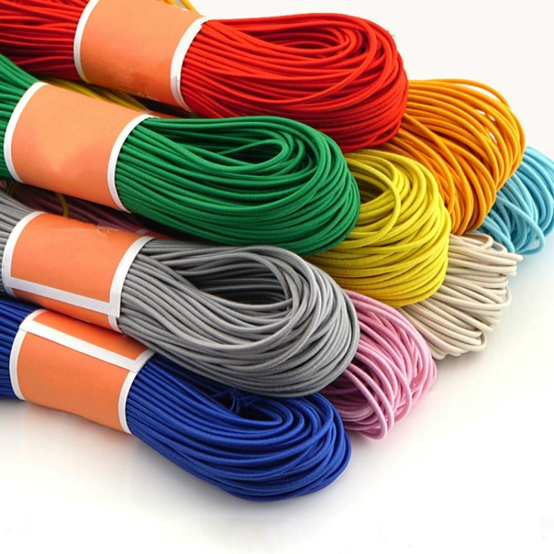 10 YardsHigh-Elastic 1mm Colorful Round Elastic Band Round Elastic Rope Rubber Band Elastic Line DIY Sewing Accessories AA7678