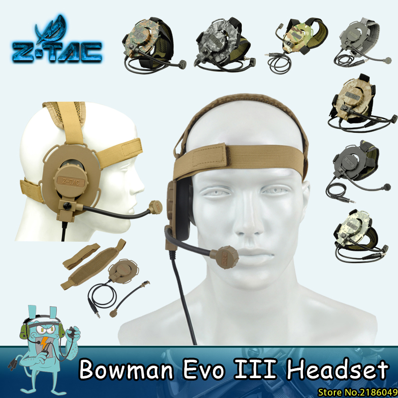 Z tactical Military Bowman Evo III Headset Hunting E Z-TAC Auriculares unilaterales Z029