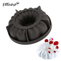 3D Round Shaped Queen Black Cake Molds Silicone Baking Mousse Pan Dessert Cake Decorating Tools
