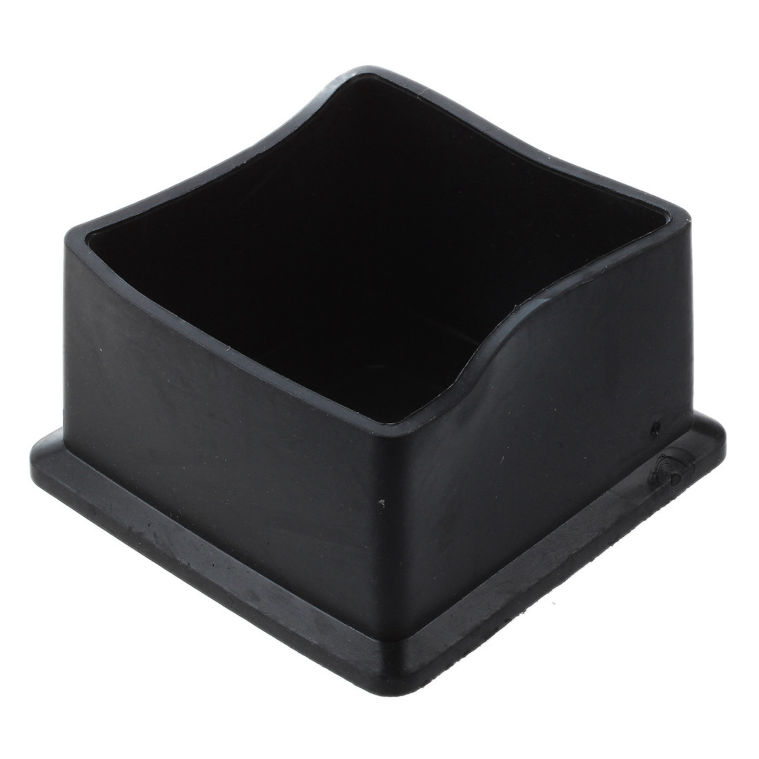 Square Black Rubber 50mmx50mm Foot for Table Chair Leg ...