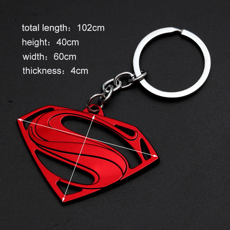 Captain America Thor Batman Iron Man Superman Spider Man The Avengers Keychain Keyring Movie Super Hero Key Ring Accessories