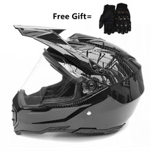 Carbon Fiber new motorcycle helmet mens moto top quality capacete motocross off road DOT