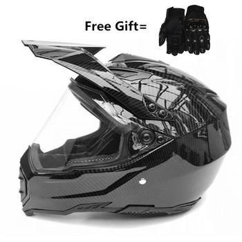 Carbon Fiber new motorcycle helmet mens moto helmet top quality capacete motocross off road motocross helmet DOT