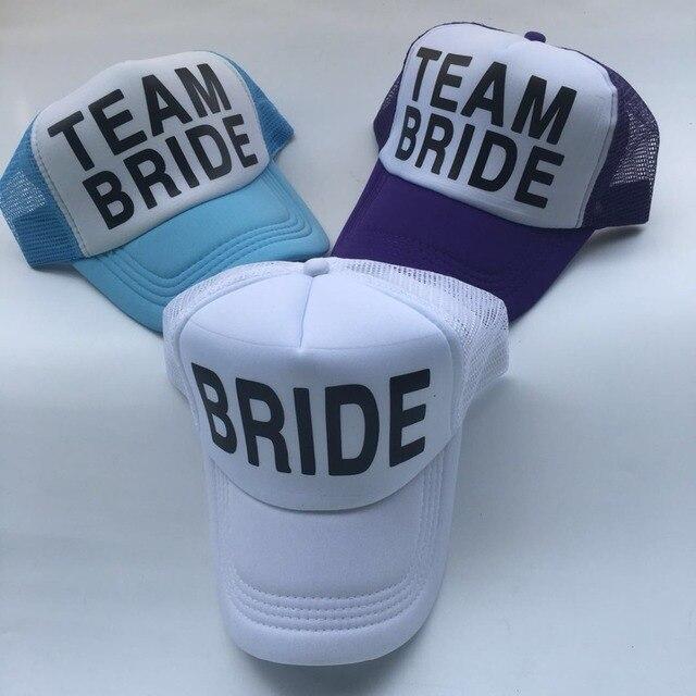 c9d094bad Baseball cap BRIDE TO BE TEAM BRIDE Bachelorette Hats club cap Women  Wedding Trucker Caps White Neon Summer Mesh men hat-in Baseball Caps from  Men's ...