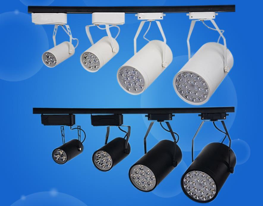 FREE SHIPPING Cool white Led Track Light 18W 30-60 Beam angle Led Ceiling Spotlight AC 85-265V led spot lighting kinfire circular 6w 420lm 6500k 30 x smd 3528 led white light ceiling lamp w driver ac 85 265v