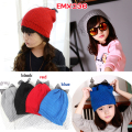 (9 Colors)New Winter Gauze Veil with Bowknot Baby Knitted Hat Girls Beanie Cap Accessories Fashion Outdoor Caps for 2-15T
