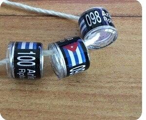 Image 3 - Anelli di piccione anello di uccello Nero con personale di personalizzazione anello di alta qualità 8mm interno formato degli anelli