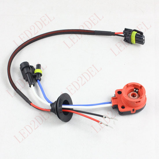 D2S D2R D2C D4S D4R D4 Hidupkan AMP HID Konektor Xenon Wiring Harness - Lampu mobil - Foto 4
