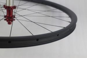 "Image 5 - 755g SUPER LIGHT 29"" MTB XC race 28mm asymmetric hookless straight pull 142mm mountain bike carbon fiber rear wheel aerodynamic"