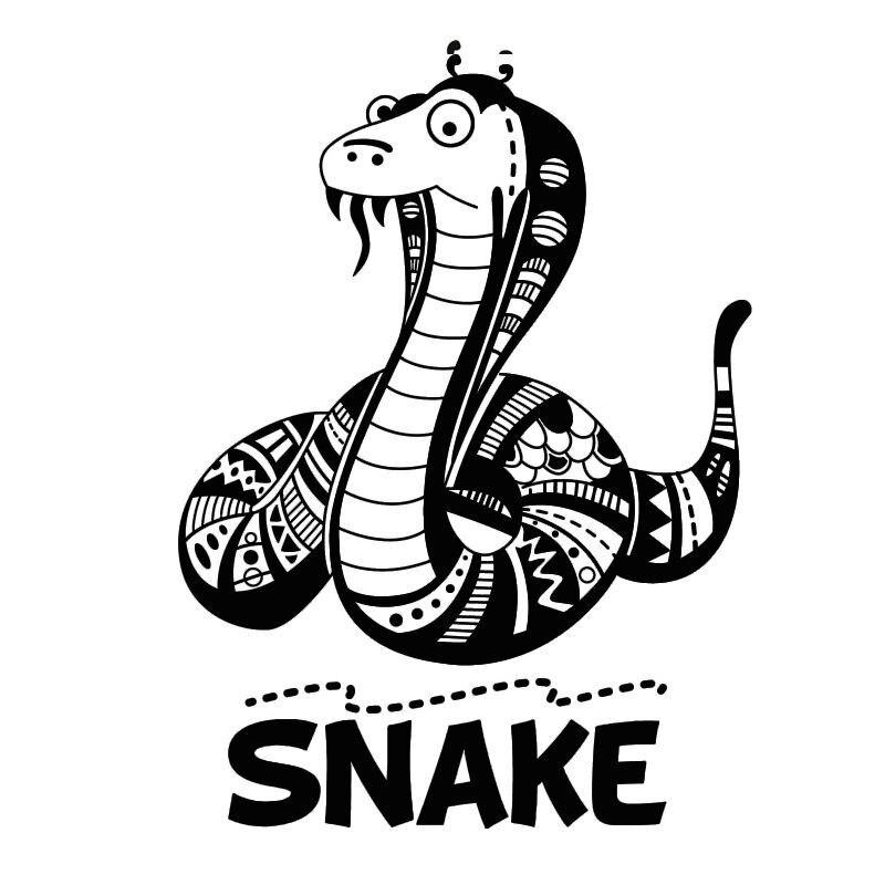 Online Shop PVC Removable Wall Sticker Animal Flower Pattern Cartoon  Flathead Snake With Beard Boyu0027S Room Home Decor | Aliexpress Mobile Part 35