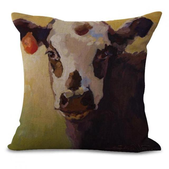 Fabricants Vente Mignon Animal Vache Imprimé Décoratif Oreiller