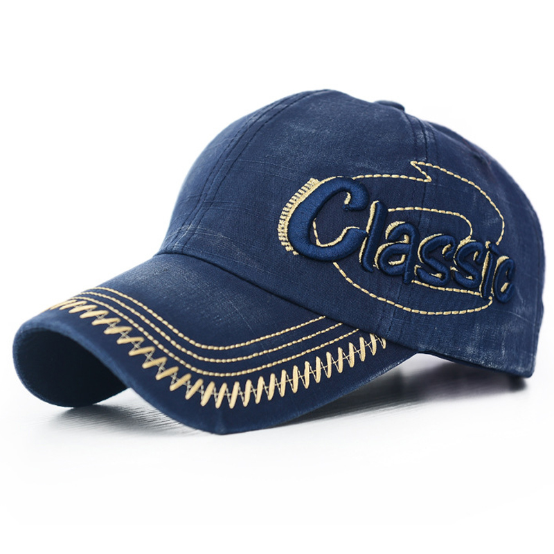 Fashion Adjustable Men Baseball Cap  Vintage Letter Embroidery Cotton Dad Hat for Male Hip-Hop  Washed Sun Snapback charmdemon 2016 embroidery cotton baseball cap boys girls snapback hip hop flat hat jy27