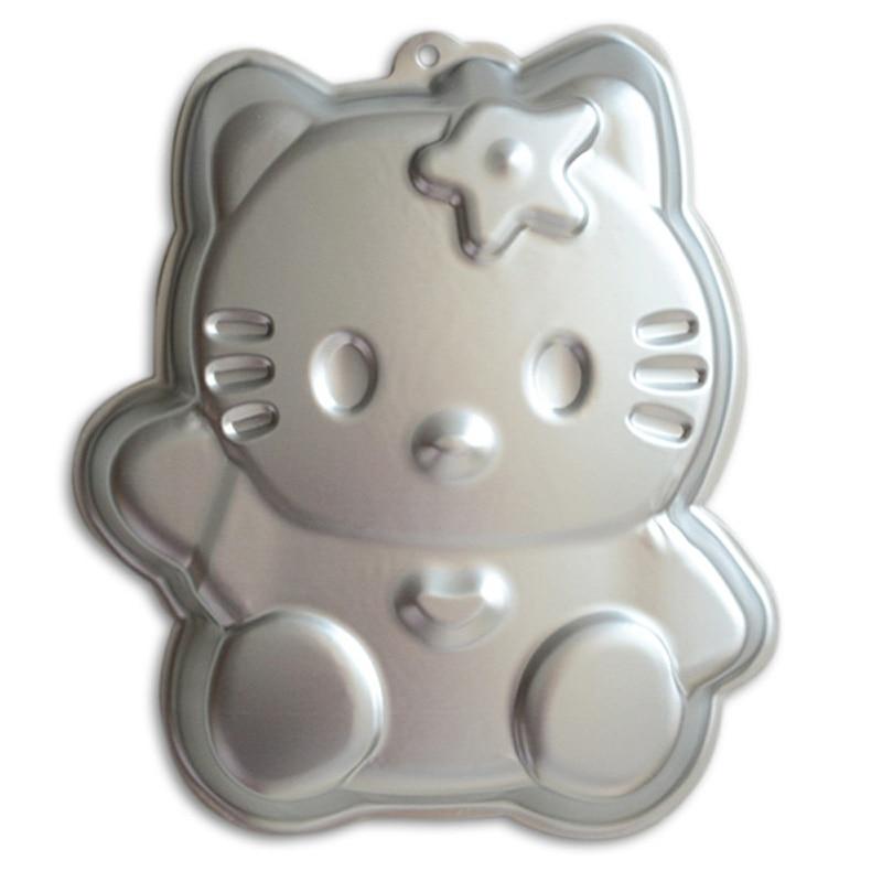 Birthday Party Cake Decoration Hello Kitty 12 Inch Aluminum Alloy 3D Baking Mold Tin Pan