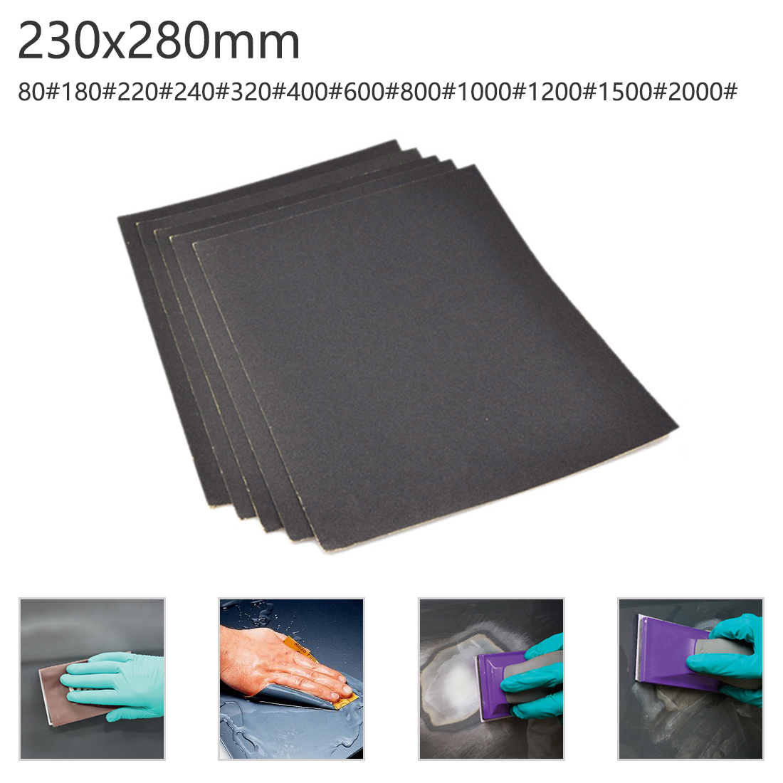 Waterproof Sandpaper Water Sand Paper Polishing Cloth Grit 80-2000 Mesh For Amber/ Bodhi/ Wood Dry Sand