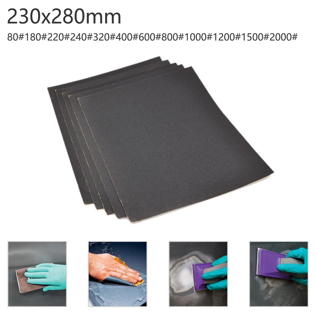 Waterproof Sandpaper Water Sand Paper Polishing Cloth Grit 80-2000 Mesh For Amber/ Bodhi/ Wood Dry Sand