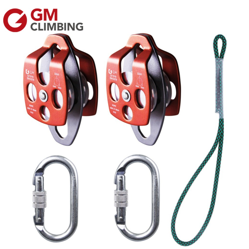 Steel 22 Kn Oval Screw Lock Carabiner With 32KN Large Rescue Pulley Double Sheave with Swing Plate For Hauling Crevasse Rescue original nidec alpha v ta300 a30479 10 230v 8038 cabinet radiator fan