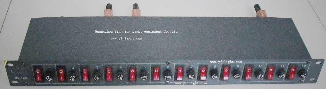hot sale 12CH*2KW power switch box/stage power supply pack/power ...