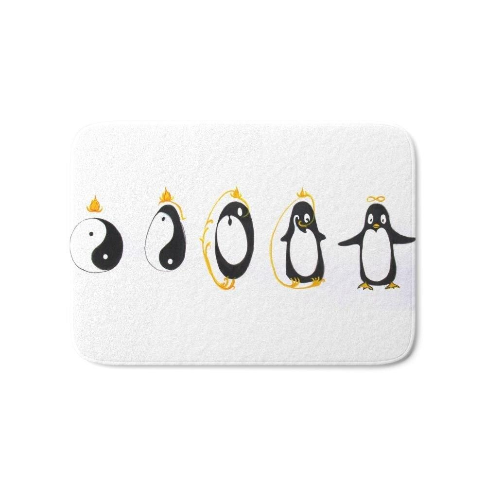 Yin Yang Penguin Bath Mat 17\