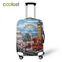 英国スタイル旅行スーツケースカバー女性弾性シーン荷物保護カバー小型スーツケースbagages roulettes 70センチヴィンテージカバー