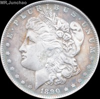 United States Of America 1890 90% Silver Morgan One Dollar Copy Coins