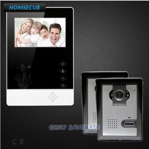 HOMSECUR 4.3inch Video Door Entry Call System with Outdoor Monitoring for Home Security