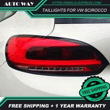 Автомобильный Стайлинг задние фонари чехол для VW Scirocco задние фонари Scirocco задний фонарь светодиодный задний фонарь DRL Противотуманные фары задний багажник крышка лампы