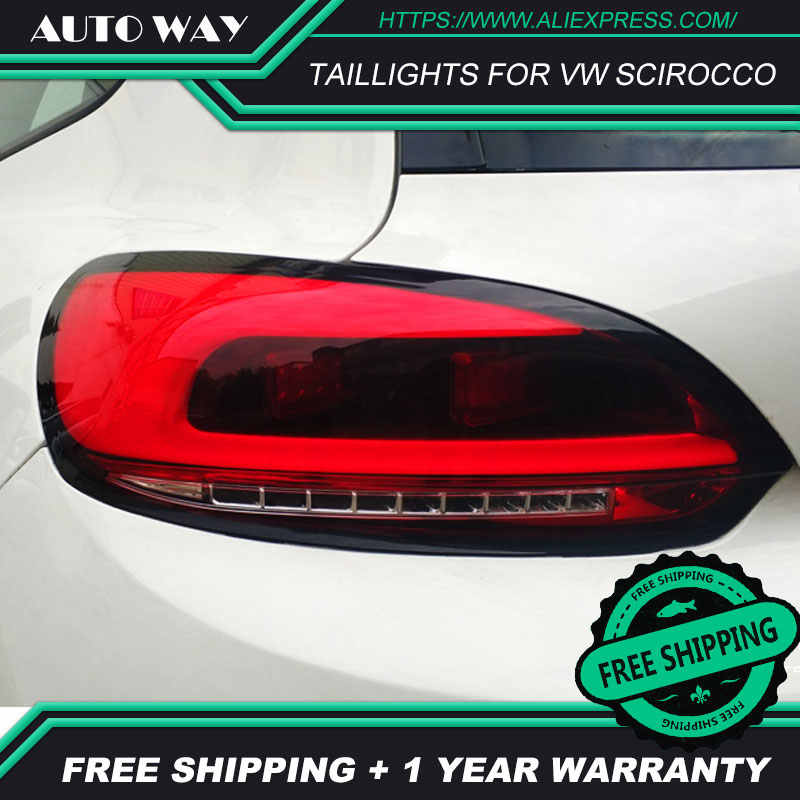 Car Styling tail lights case for VW Scirocco taillights Scirocco taillight LED Tail Lamp DRL fog lights rear trunk lamp cover