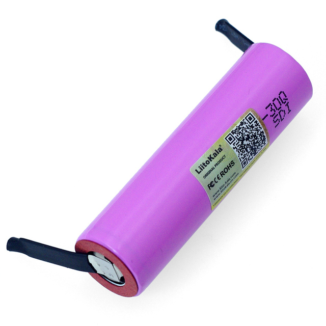 Liitokala batería recargable li lon de 3,7 V, ICR18650, 30Q, 3000mAh, para ordenador portátil + de níquel de DIY