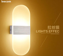 4pcs/lot 6w Led Acrylic Wall Lamp Ac85-265v Mounted Sconce Lights Decorative Living Room Bedroom Corridor