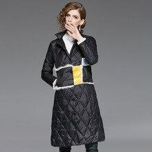 Delle donne di Inverno Imbottiture Giubbotti Ultra Luce Lungo Imbottiture  Cappotto Nero Lungo Imbottiture Giacca Femminile 4fb923bc5d54