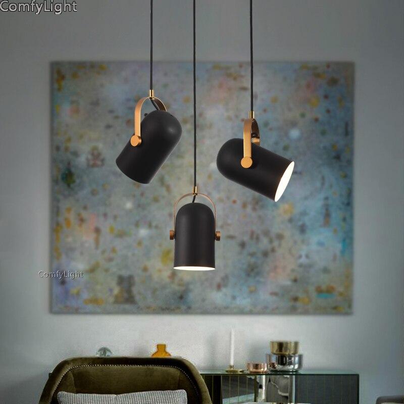 Nordique minimaliste en aluminium pendentif LED lumière restaurant bar cuisine/salle à manger Luminaire lampe de créateur de mode éclairage à la maison