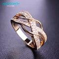Mechosen kawaii cz zirconia anillos para mujeres hombres joyería nupcial Anillos de boda Anel Anillo Chapado En Oro de Cobre Loki Anillos Mujer Vaz