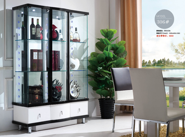 306# Living Room Furniture Display Showcase Wine Cabinet Living Room Cabinet
