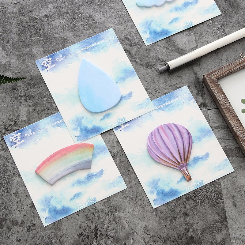 1PC Creative New Rainbow Cloud Series Memo Pad Paper Post Sticky Notes Notepad Stationery Papeleria Office School Supplies