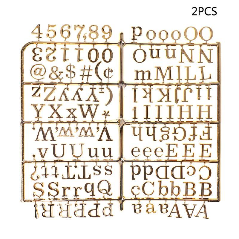 Caracteres para placa de letra de feltro