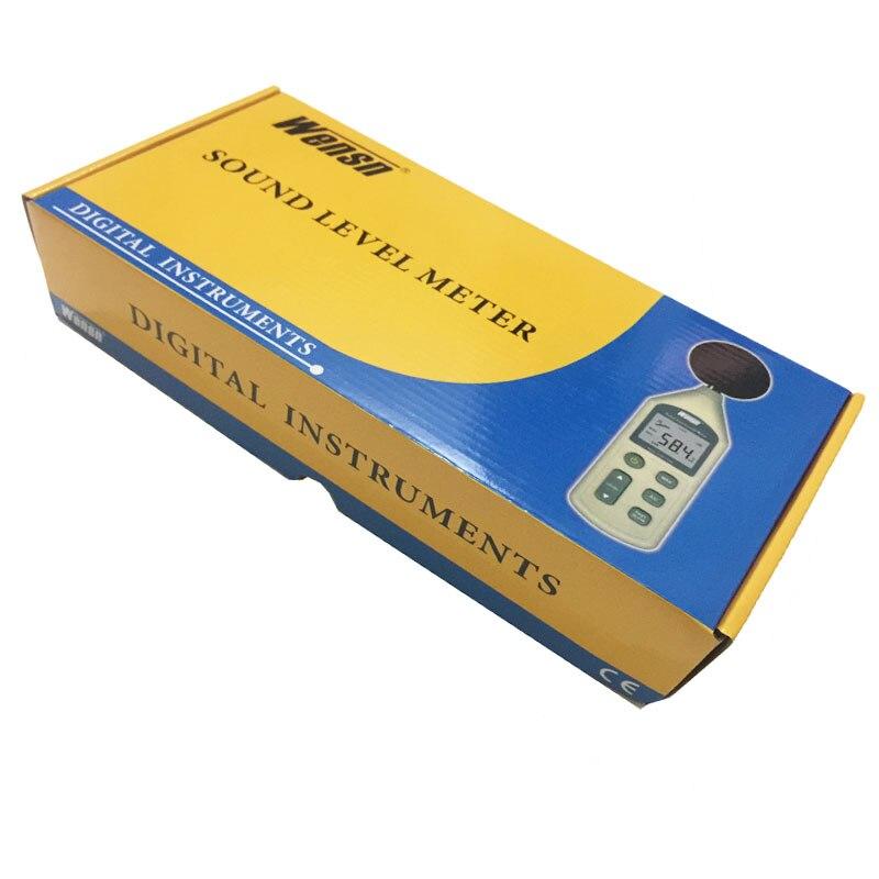 WS1361C sonomètre numérique, décibels, sonomètre numérique LCD 30-130db USB + avec carte SD - 6