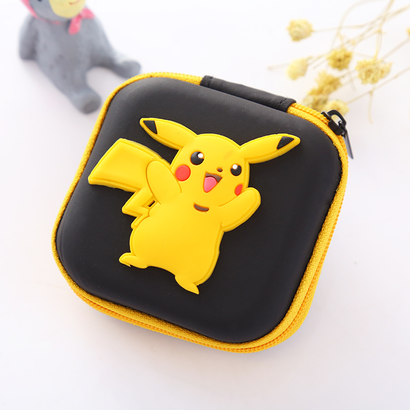 Animals Gifts Silicone Coin Purse Cute Cartoon Pokemon Pikachu Small Mini Coin Bags Change Wallets Earphone Organizer Kids Gifts