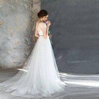 White Dot Tulle Floor Length Custom Made Bridal Skirts Bohemian Garden Travel Wedding Romantic A line Skirt Saias Fresh Style